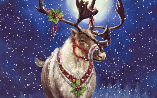 HAPPY Merry Christmas raindeer art painting 2013 wallpaper HD