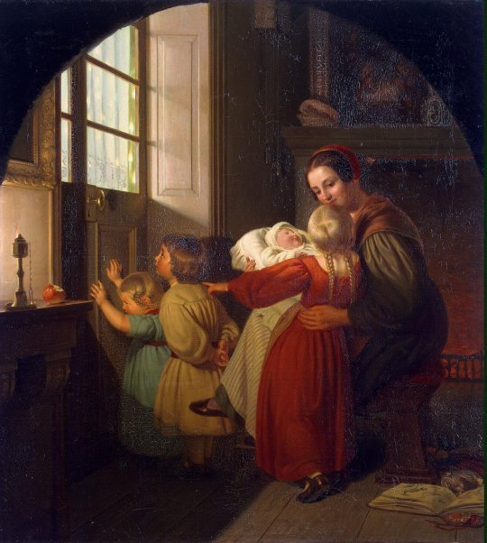 Hildebrandt_Ferdinand_Theodor-ZZZ-Children_Expecting_the_Christmas_Feast