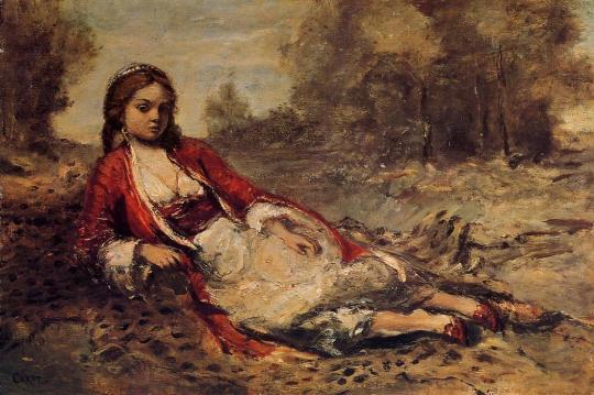 Jean-Baptiste Camille Corot, Jeune Algérienne couchée sur le gazon