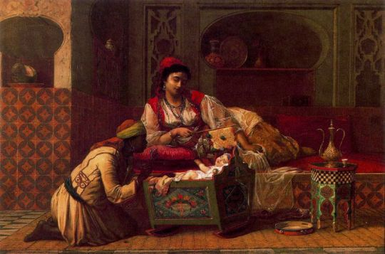 Jean-Baptiste Huysmans,,Surveillant bebe Huile sur panneau