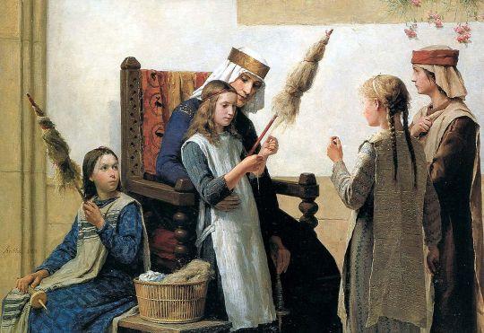 la-reine-berthe-et-les-fileuses-1888