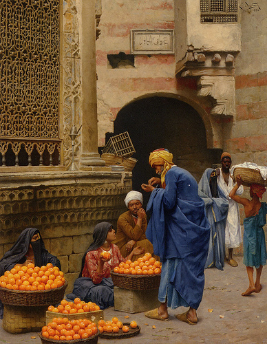 Ludwig Deutsch - The Orange Sellers, Cairo