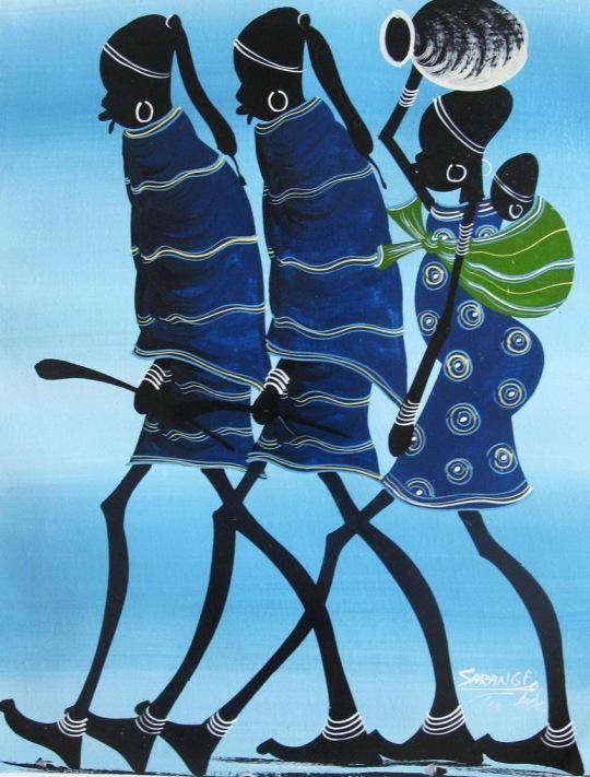 Maasai in blue