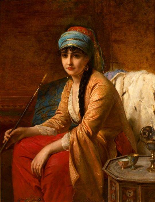 Oriental woman smoker