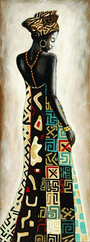 PAINTING-AFRICAN-LADY-YELLOW-L45-W120-0.020CBM