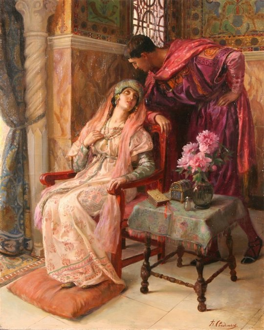 Pavel Svedomsky(1849 - 1904) - The courtship