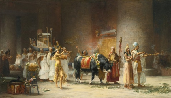 Procession of the Bull Apis  by Frederick Bridgman