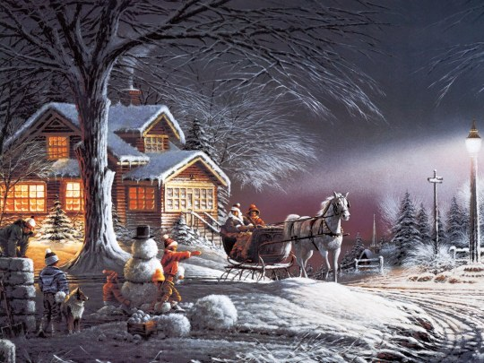 Terry_Redlin_Artwork_wallpaper_Winter_Wonderland