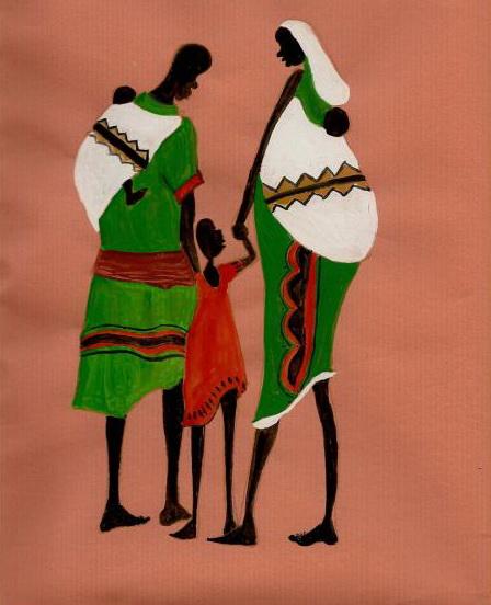 the-family-african-art-asha-sudhaker-shenoy