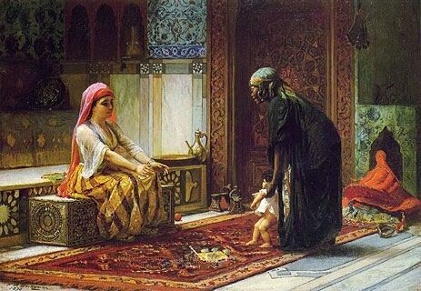 The First Steps 1878, Frederick Arthur Bridgman_1