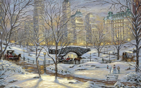 thomas-kinkade-a-winter-s-eve
