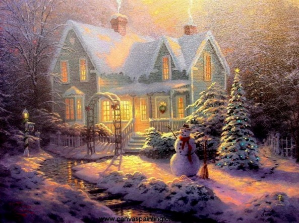 Thomas Kinkade - Blessing of Christmas