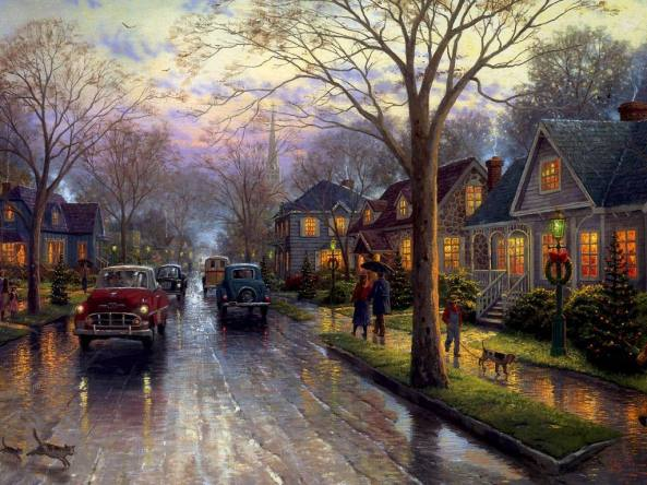 thomas kinkade - hometownchristmas