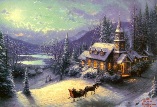 Thomas Kinkade - winter