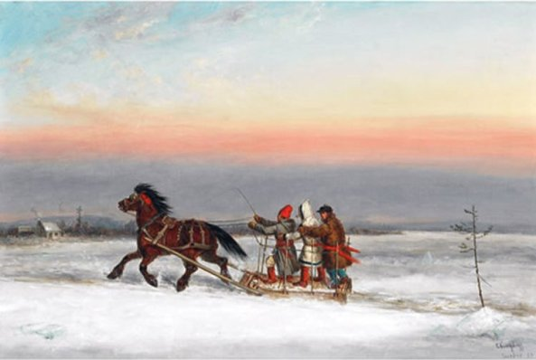'Winter_Traverse',_oil_painting_by_Cornelius_Krieghoff
