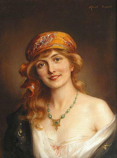 Albert Lynch (Peruvian artist, 1851-1912)beautiful-woman
