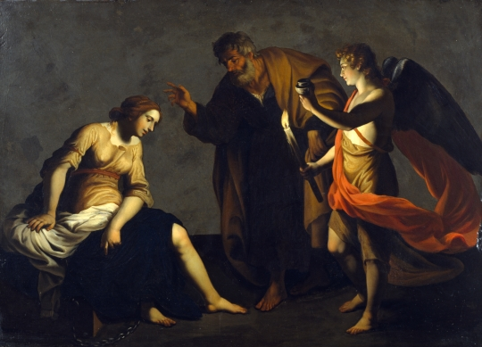 Alessandro_Turchi_-_Saint_Agatha_Attended_by_Saint_Peter_and_an_Angel_in_Prison_-_Walters
