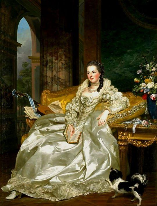 Alexander Roslin 'Jeanne Sophie de Vignerot du Plessis'