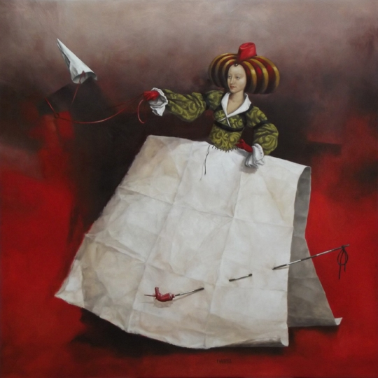 Catherine Chauloux, Les déjantés La Dame à la licorne  80 x 80