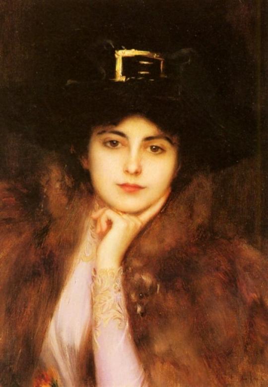 Portraet-einer-eleganten-Dame-von-Albert-Lynch-19892