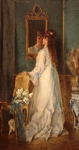 Stevens_Alfred_A Girl in front of the Mirror_Les inventions dans l'art autour de 1850