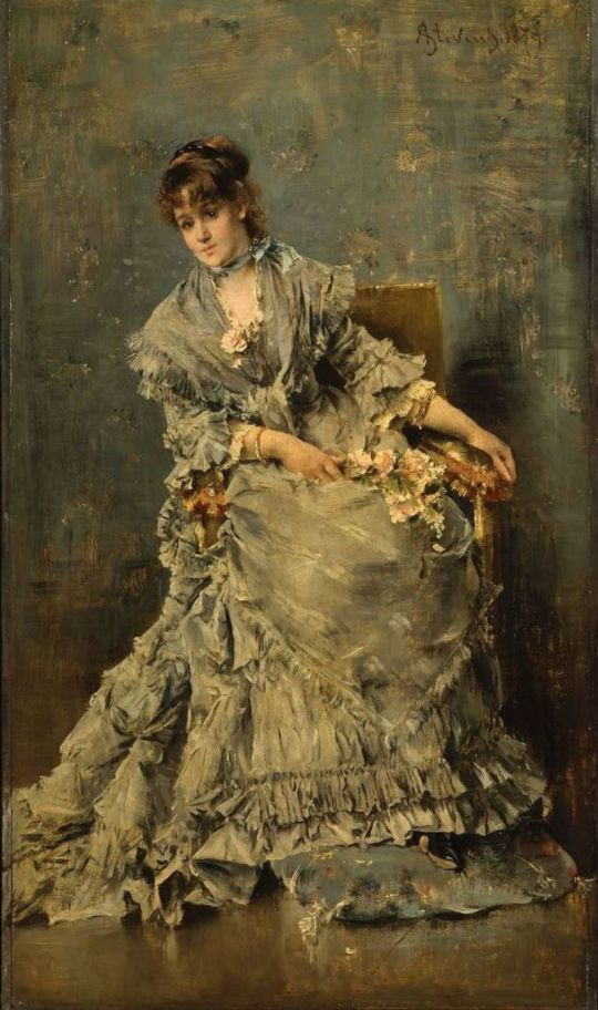 The Attentive Listener.Alfred Stevens, 1879