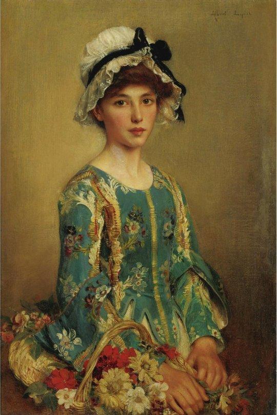The Flower Girl, Albert Lynch