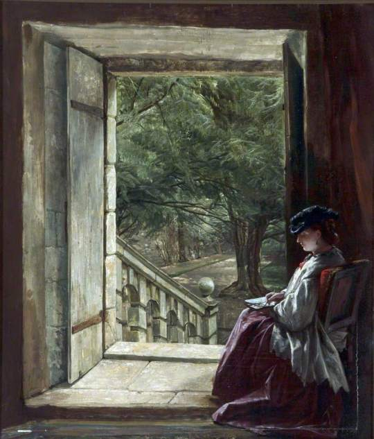 Alfred-Elmore-xx-Dorothy-Vernons-Doorway-Haddon-Hall-xx-Walker-Art-Gallery-Liverpool
