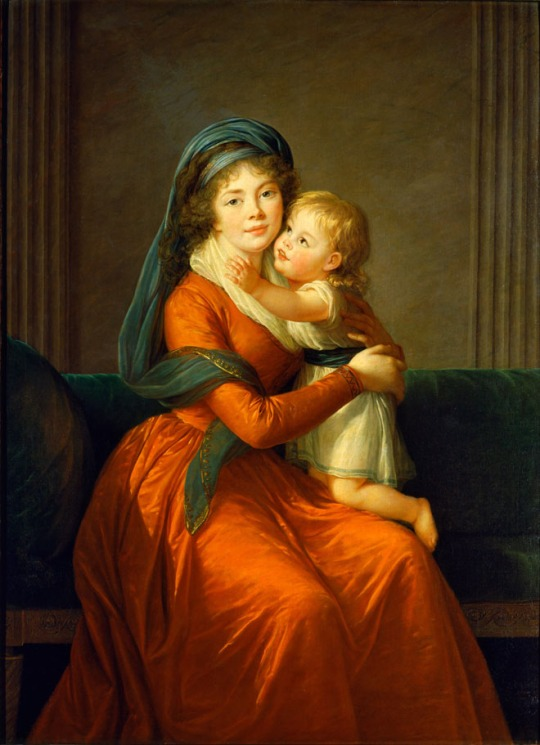 elisabeth-vigee-lebrun-Portrait of princess Alexandra Golitsyna and her son Piotr