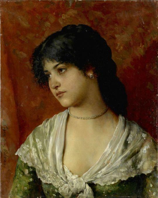 Eugen von Blaas (1843-1931) Venetian Woman