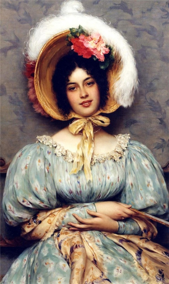 Eugene de Blaas - A Viennese Beauty