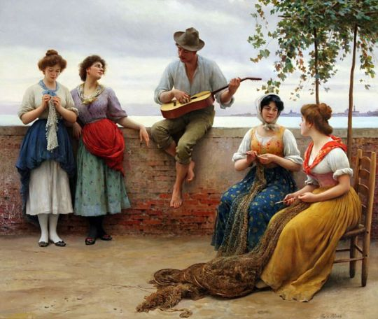 Eugene de Blaas - The Serenade