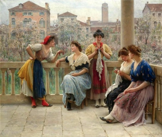 Eugenio De Blaas [1843-1931] - Austrian Academic panter - Tutt'Art@ (6)
