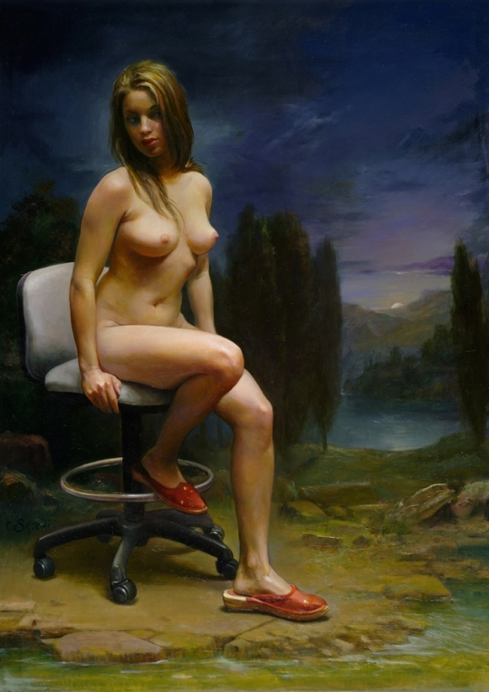 Magic Realism - Claudio Sacchi 1953 - Italian painter (13)