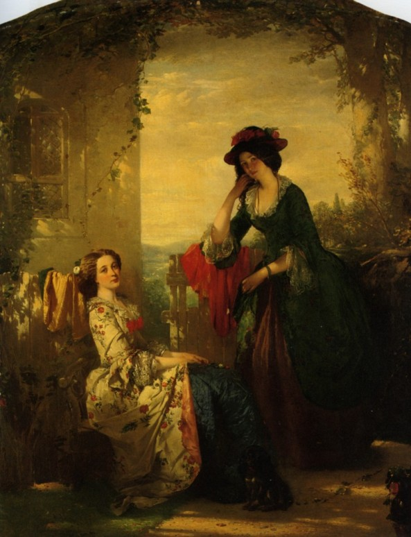 Faed_Thomas_Sophia_And_Olivia_Oil_On_Canvas