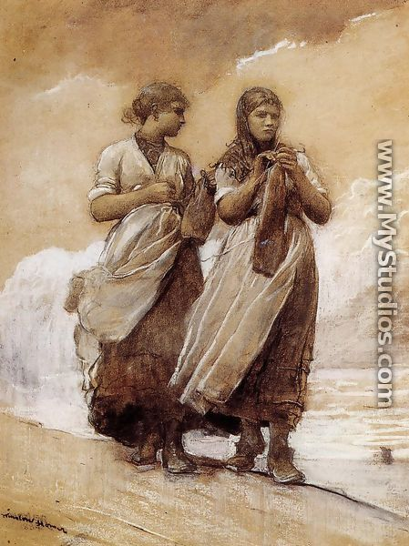 Fishergirls on Shore