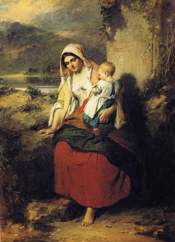 Thomas Faed - Taking Rest