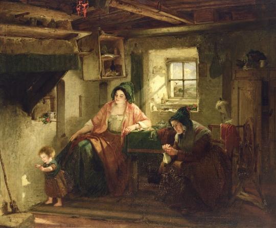 Thomas Faed - The Ray of Sunlight