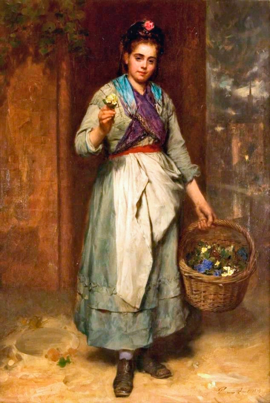 Thomas Faed - Violets and Primroses