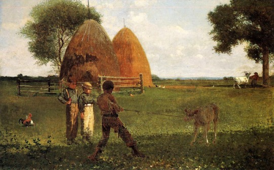 Weaning the Calf, by Winslow Homer
