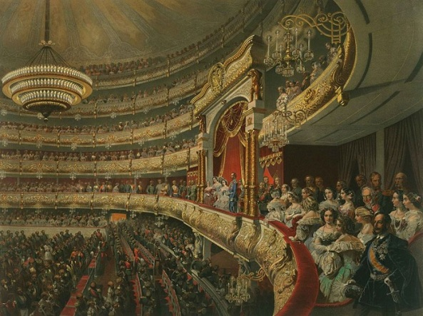 William Holyoake - In the front row at the opera 1880