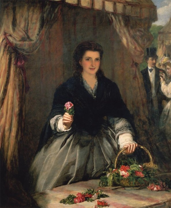 William Powell Frith - The Flower Seller