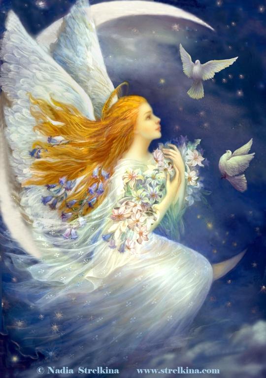 Nadia Strelkina - Angel_with_pigeons