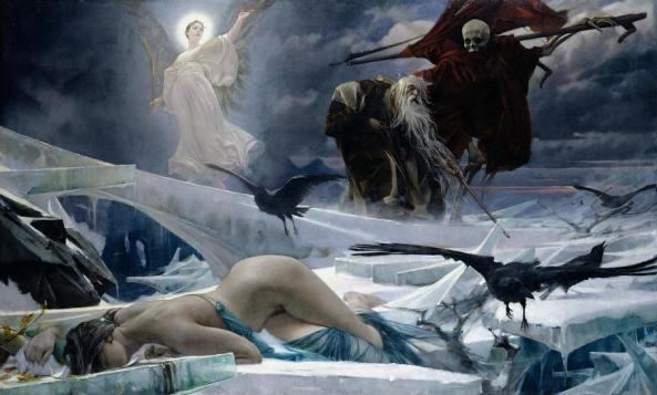Adolf Hiremy-Hirschl - Ahasuerus at the End of the World, 1888.