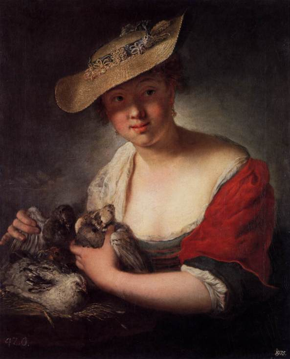 Antoine Pesne - girl-with-pigeons