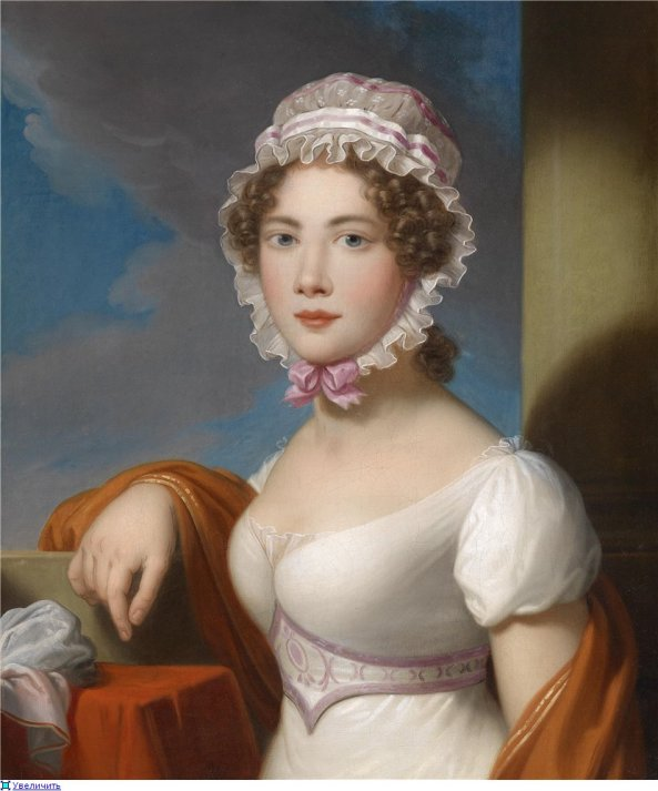 Artist, c.1810 ~ Portrait of a Young Lady with Lace Cap