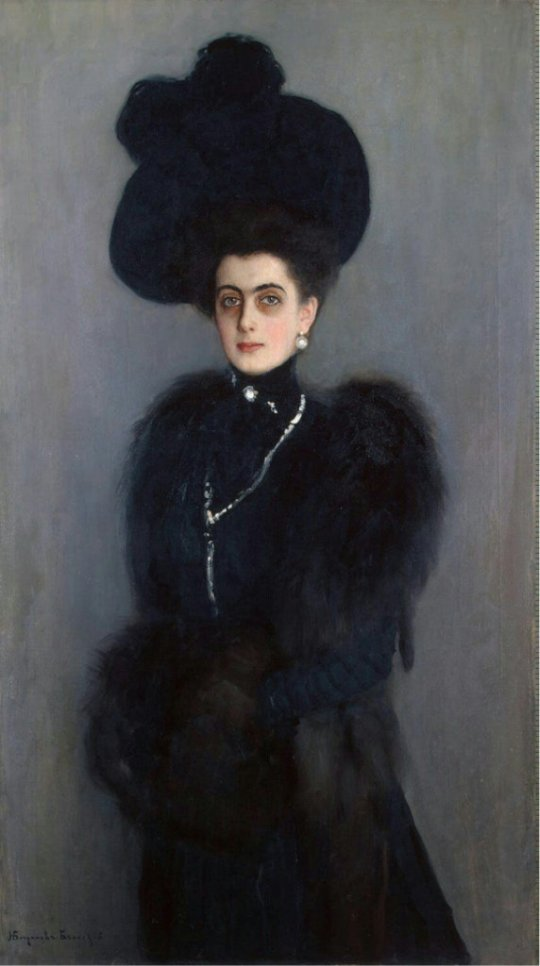 Bogdanov-Belsky, Nikolai Petrovich -  Portrait of Marie-Abamelek Lazareva