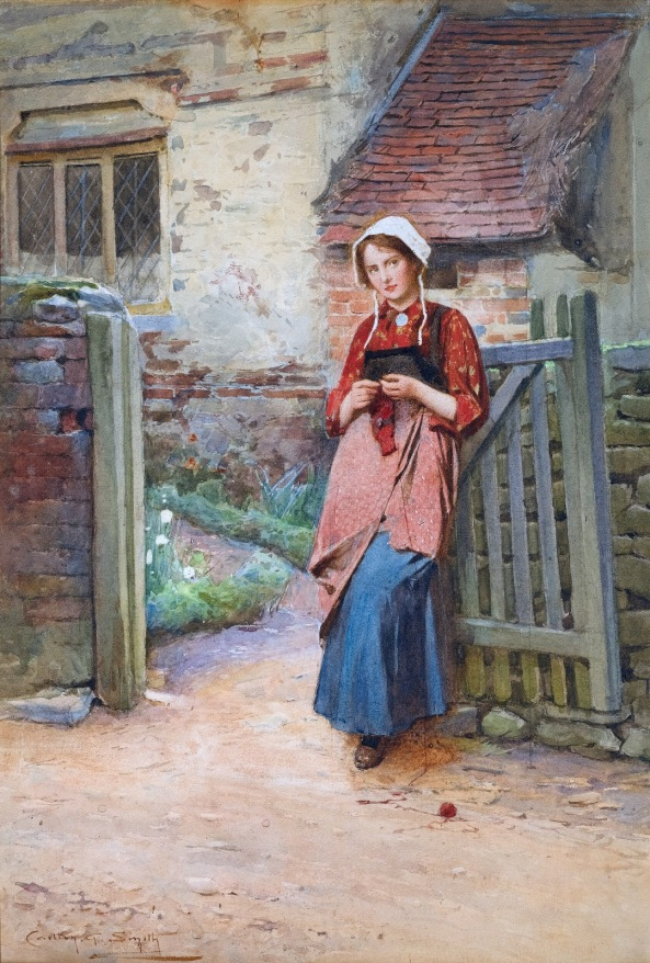 Carlton Alfred Smith - At the Garden Gate