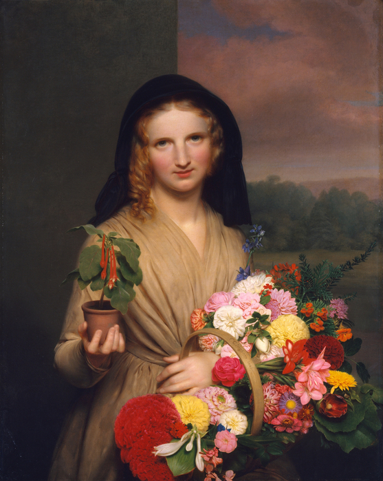 Charles Cromwell Ingham (American, 1796–1863) - The Flower Girl 1846