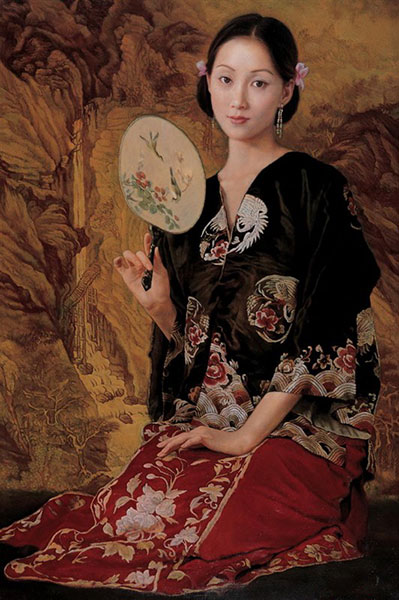 chinese-woman-fan-oil-painting_LRG